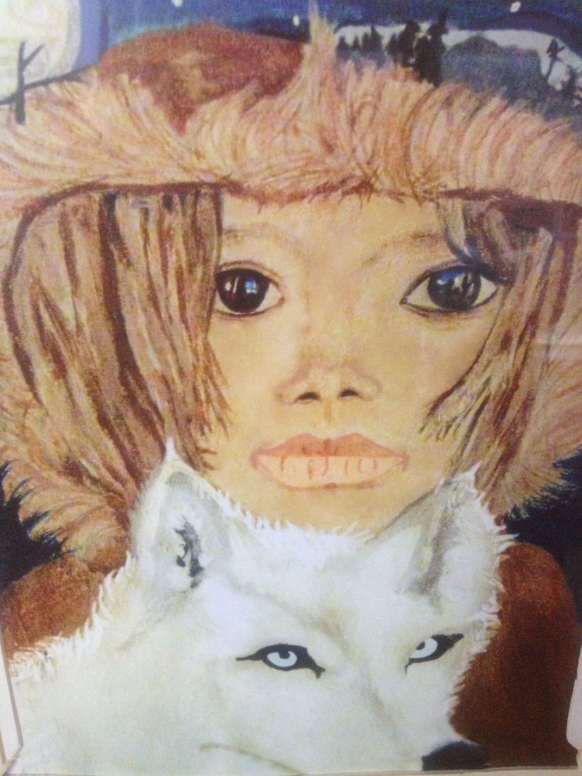 Little Girl and White Wolf