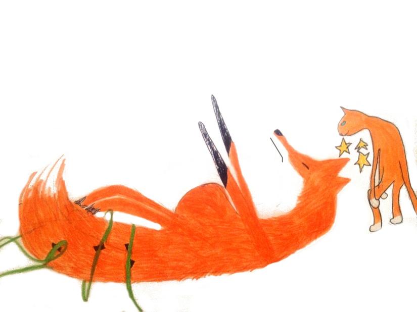 Fox gets tangled