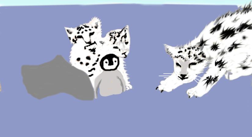 snow leapard cubs